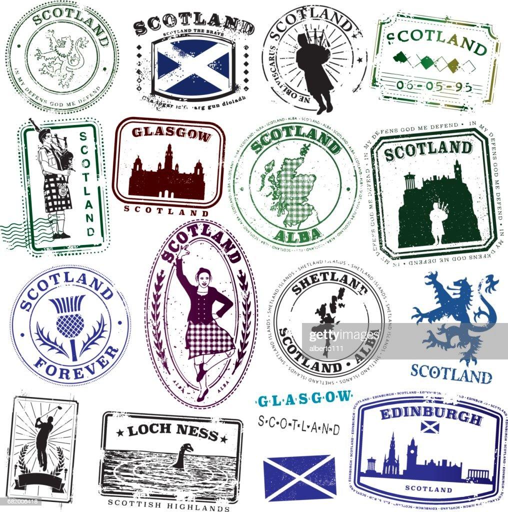 Vintage Scottish Stamp Collection