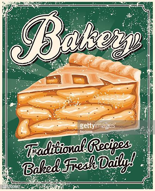 Vintage Screen Printed Bakery Poster