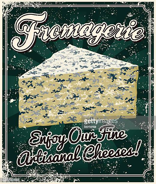 Vintage-Siebdruck-Käse-Poster