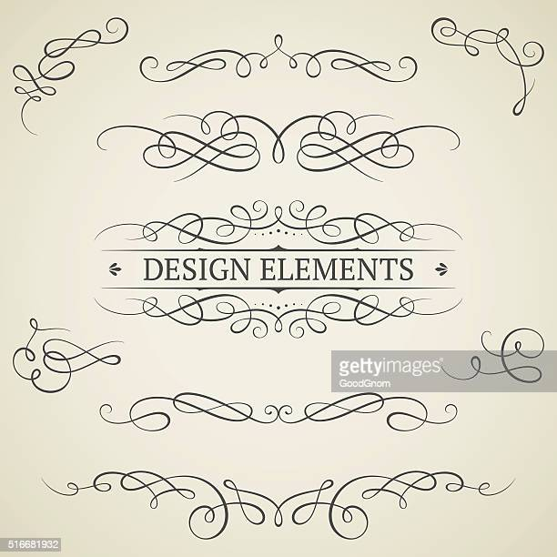 Jahrgang scroll-Elemente
