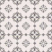 Vintage seamless pattern in neutral color