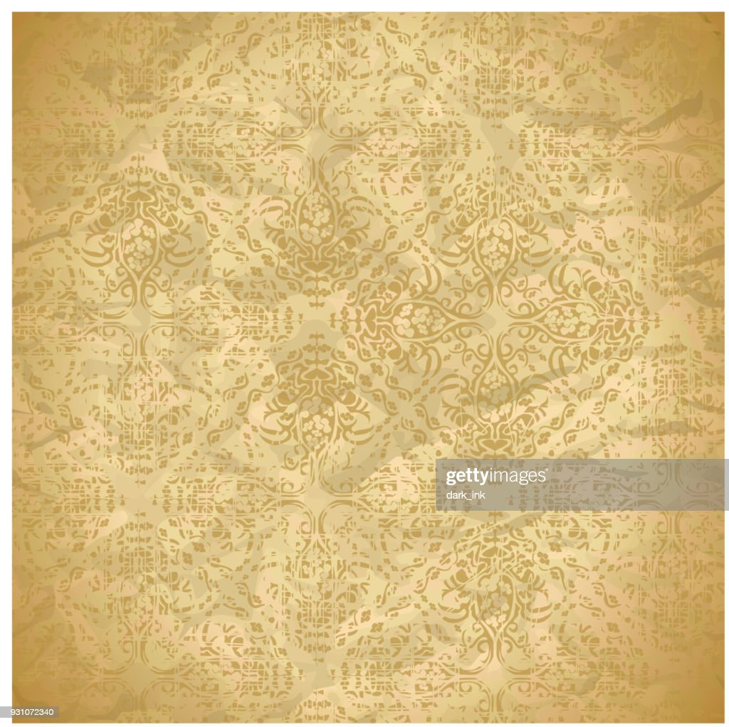 vintage seamless pattern with floral ornaments