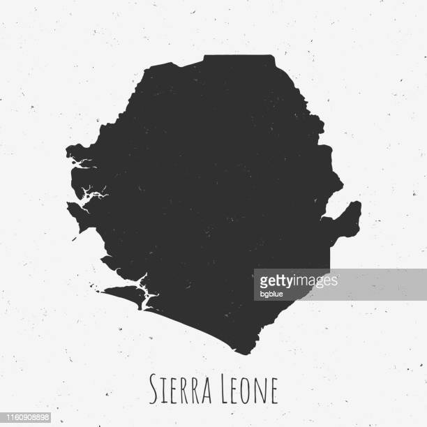 vintage sierra leone map with retro style, on dusty white background - samoa stock illustrations, clip art, cartoons, & icons