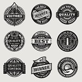 vintage signs vector set