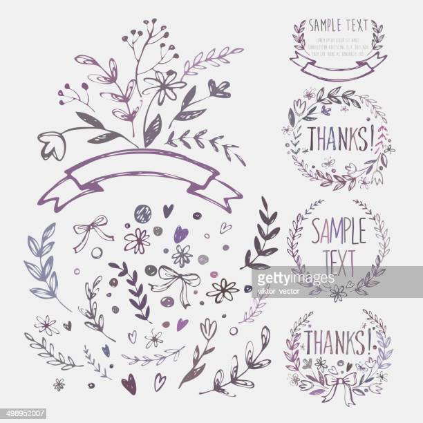 Vintage Sketch Design Elements. Vector illustration