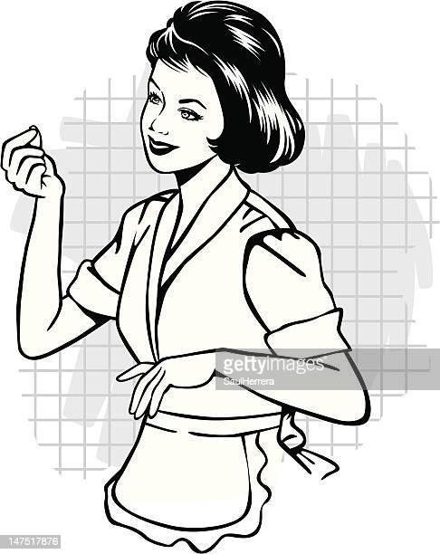Vintage Typische Hausfrau
