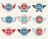 Vintage style badge and banner icon