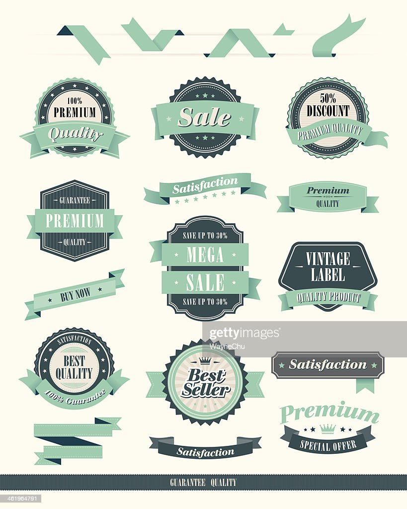 Vintage Style Badge & Ribbons