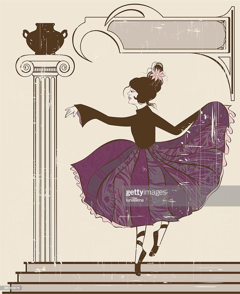 Vintage style ballerina