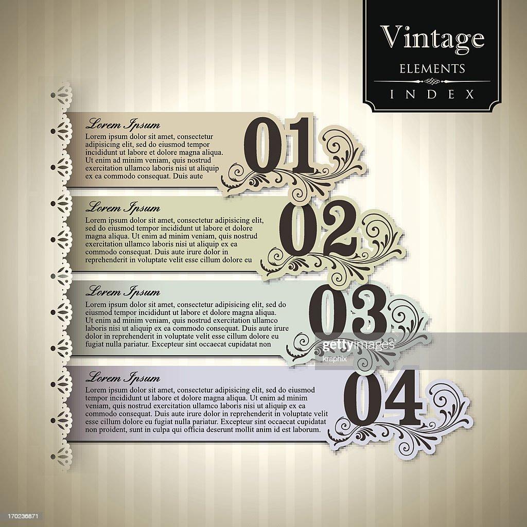 Vintage style Bar Graph.