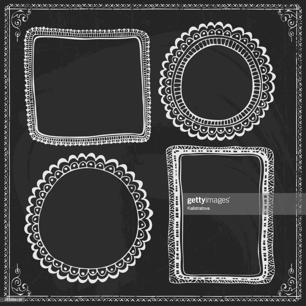 Vintage style black and white design