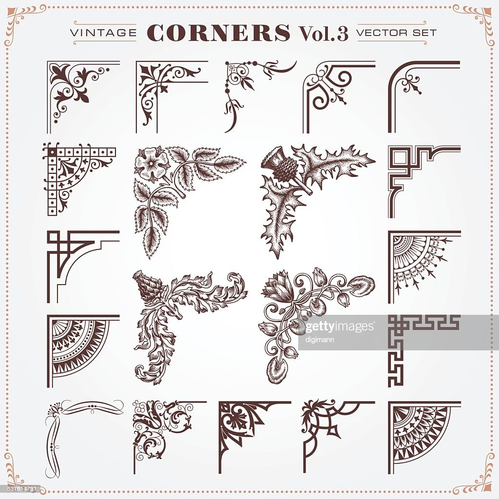 Vintage Style Corners And Borders 3