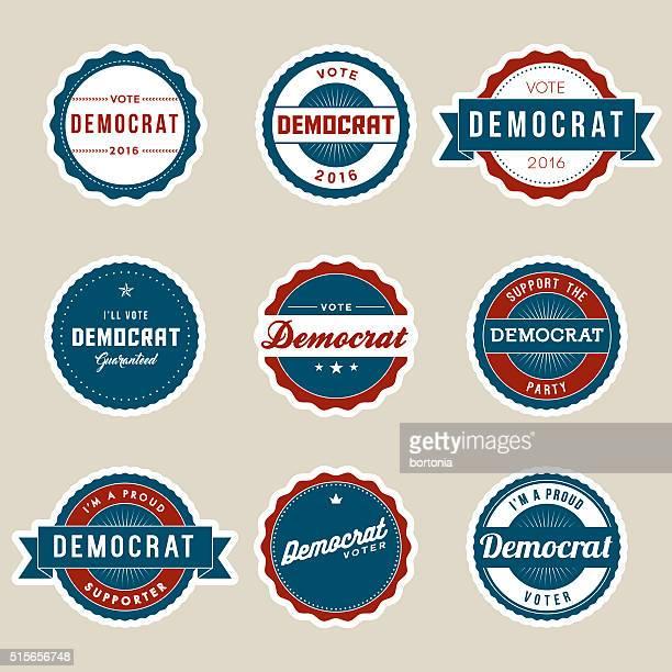 Estilo Vintage demócratas elecciones campaña electoral tarjetas