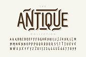 Vintage style font design