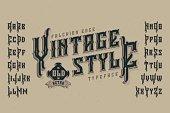 Vintage style font. Retro typeface named 'Falchion Edge'.