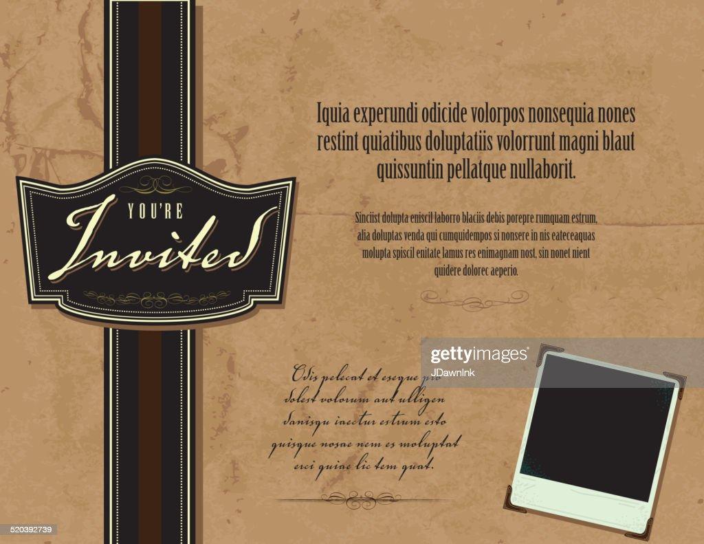Vintage style invitation template