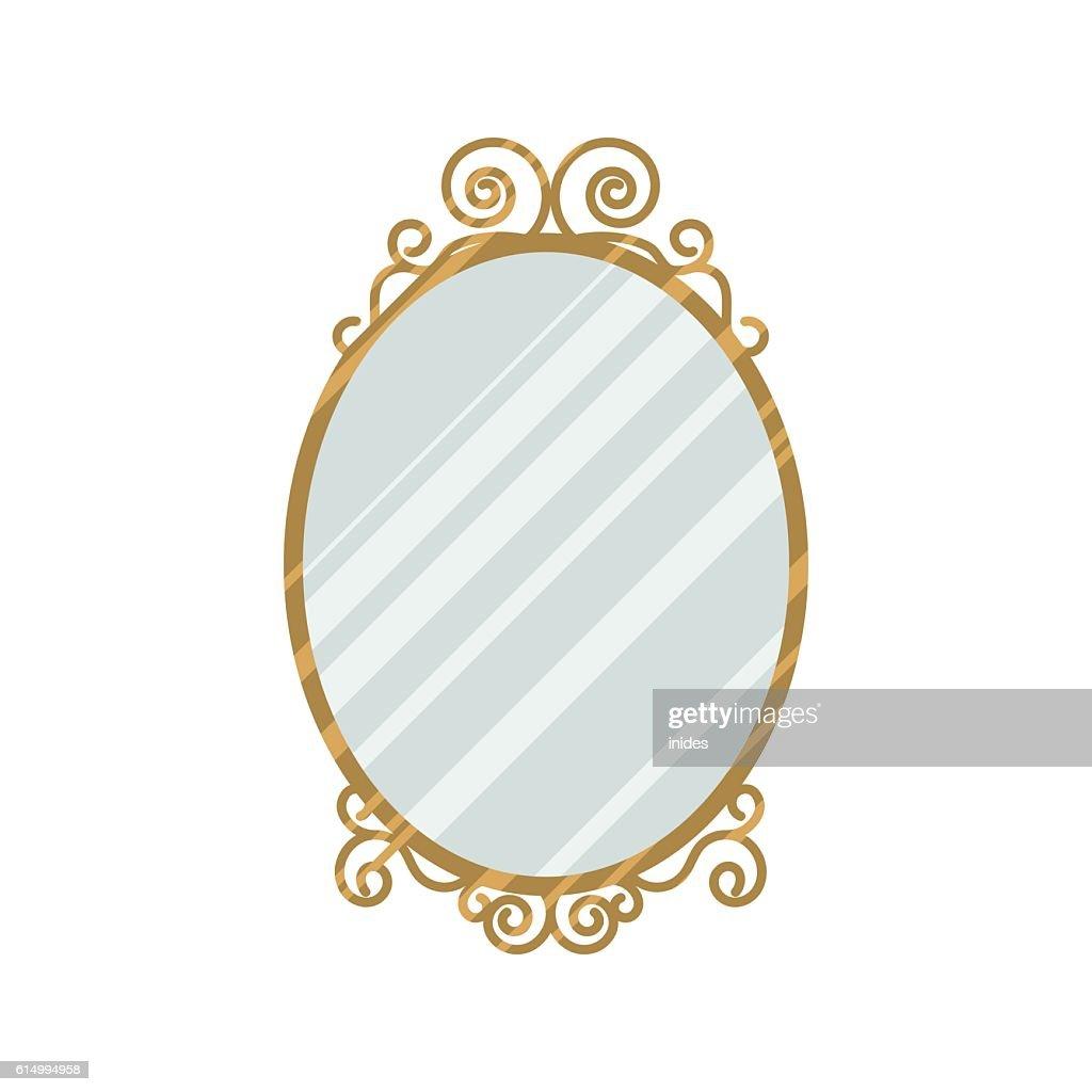 Vintage style mirror vector illustration.