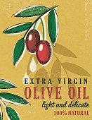Vintage Style Olive Oil Poster