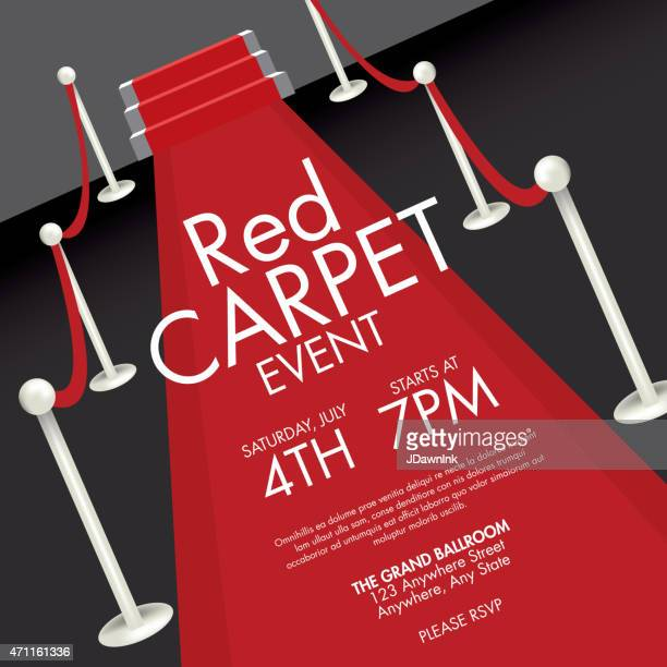 Gala vector art and graphics getty images vintage style red and black carpet event ticket invitation template stopboris
