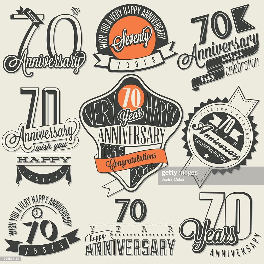 Vintage style Seventy anniversary collection.