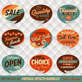 Vintage Style Speech Bubble Cards