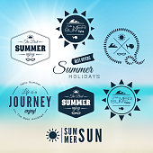 Vintage summer holidays typography design