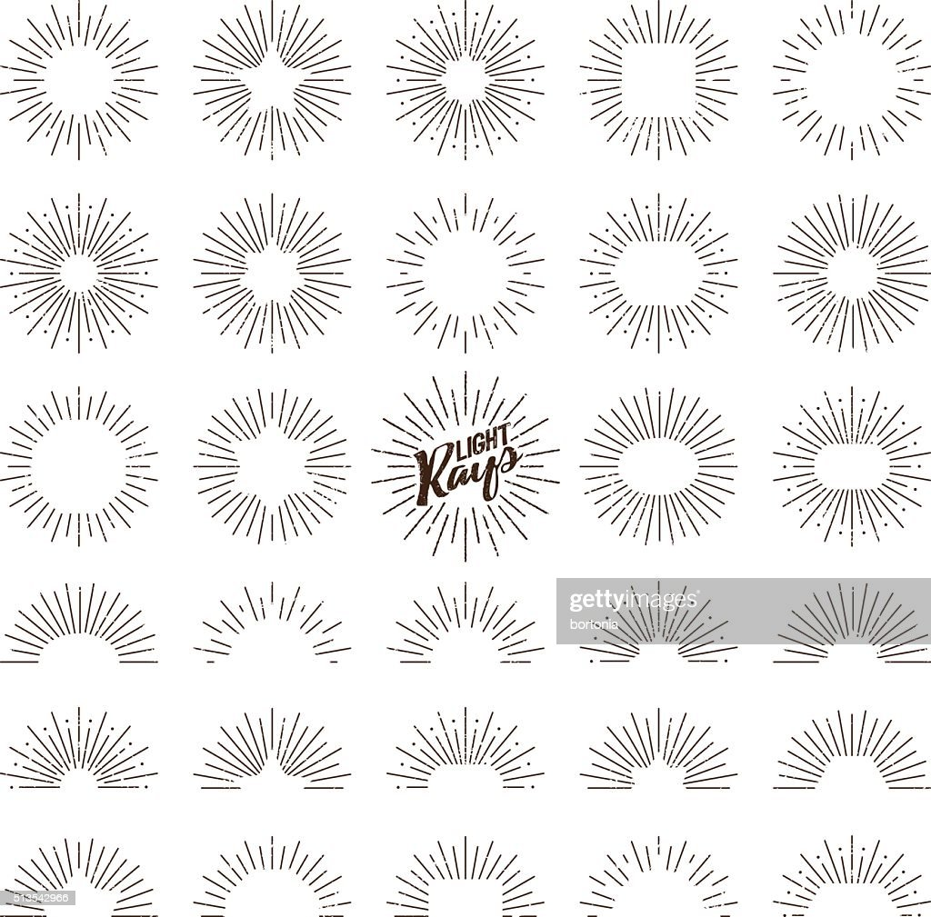 Vintage Sunburst Designs Icon Set