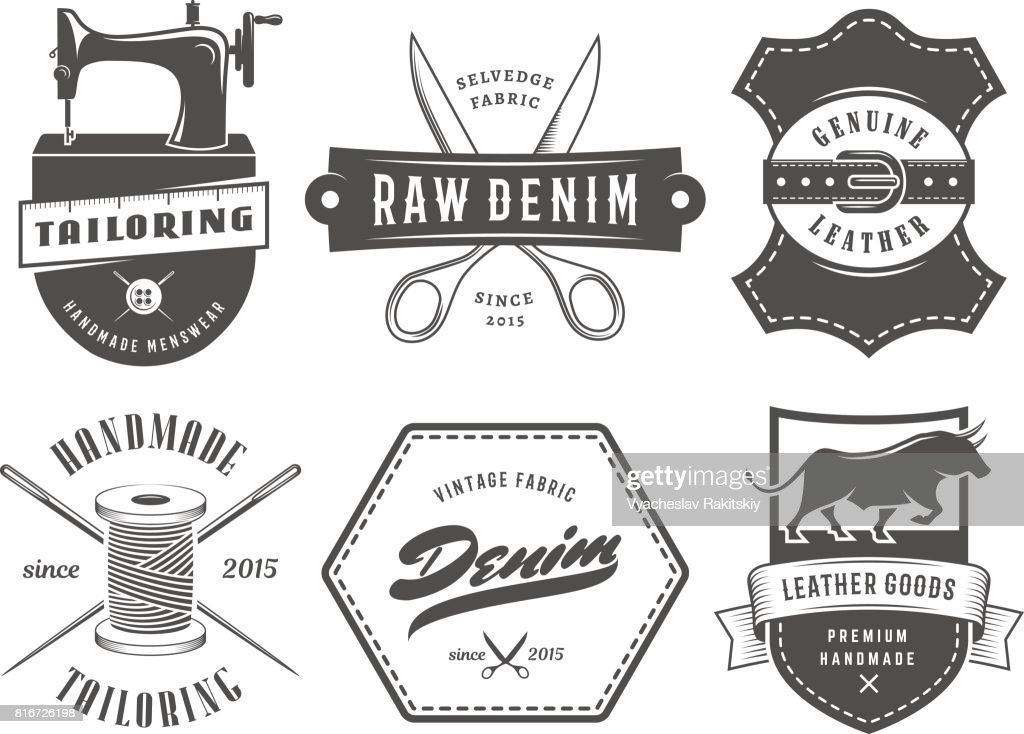 Vintage tailoring denim labels.