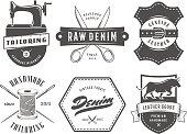 Vintage tailoring denim labels.