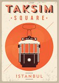 Vintage Taksim Square - Istanbul Poster
