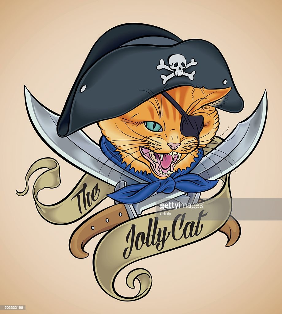 Vintage tattoo of The Jolly Cat