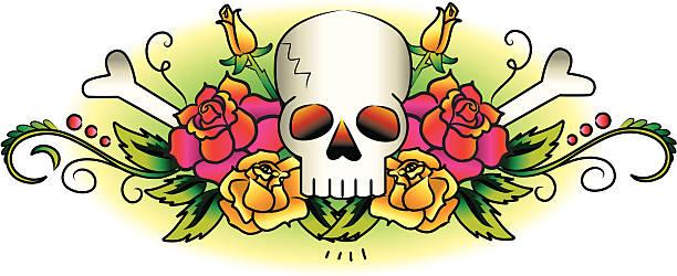 Vintage Tattoo, skulls and roses