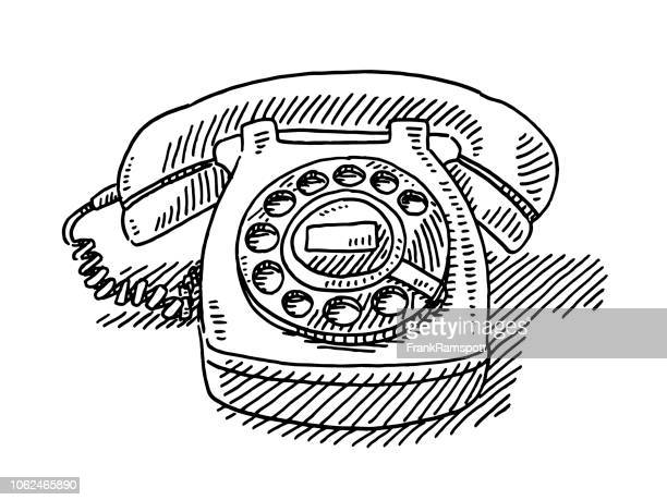 Vintage Telephone Drawing