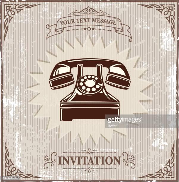 vintage telephone symbol
