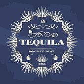 Vintage tequila banner or poster design