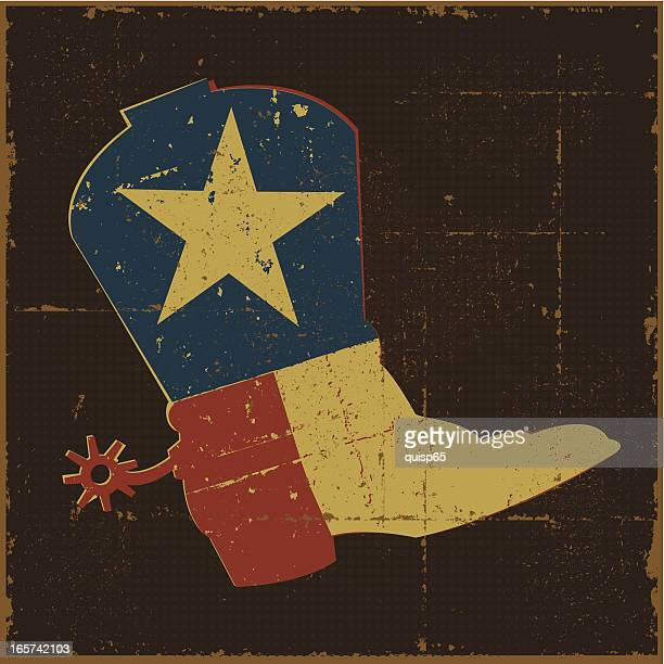 Vintage Texas Flag Boot