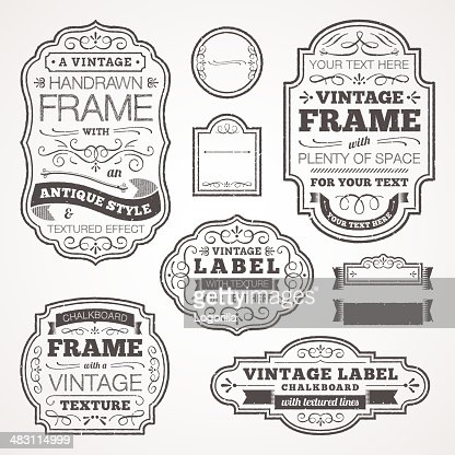 Vintage Text Frames Vector Art | Getty Images