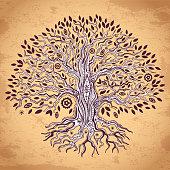 Vintage tree of life illustration