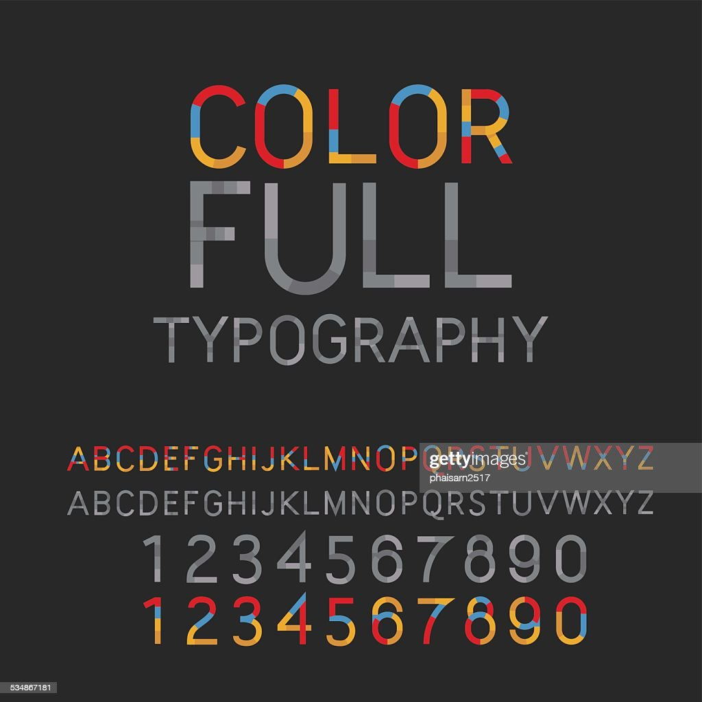 Vintage typography color full. vector-illsutrator