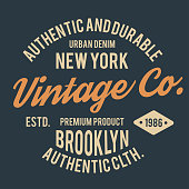 Vintage typography for t shirt print. New York t-shirt graphics
