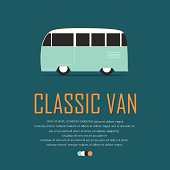 Vintage van car poster.