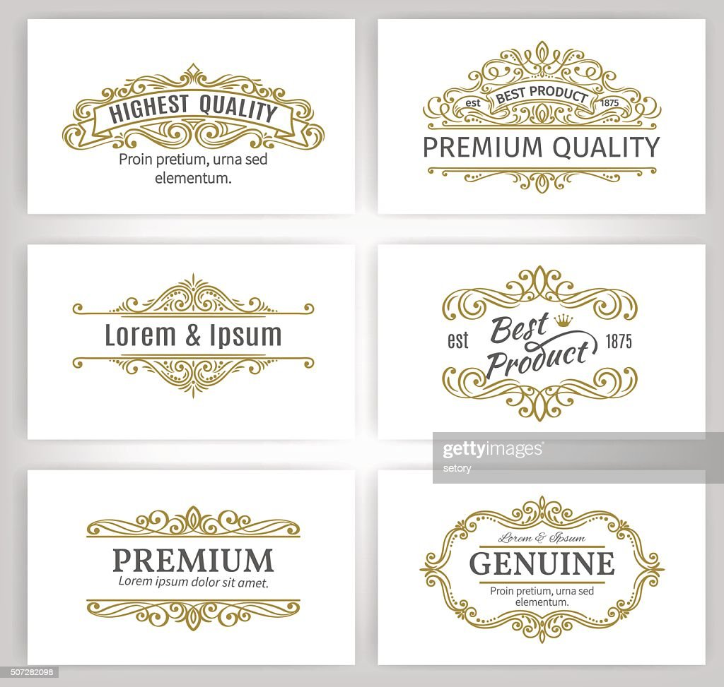 Vintage Vector Banners Labels Frames