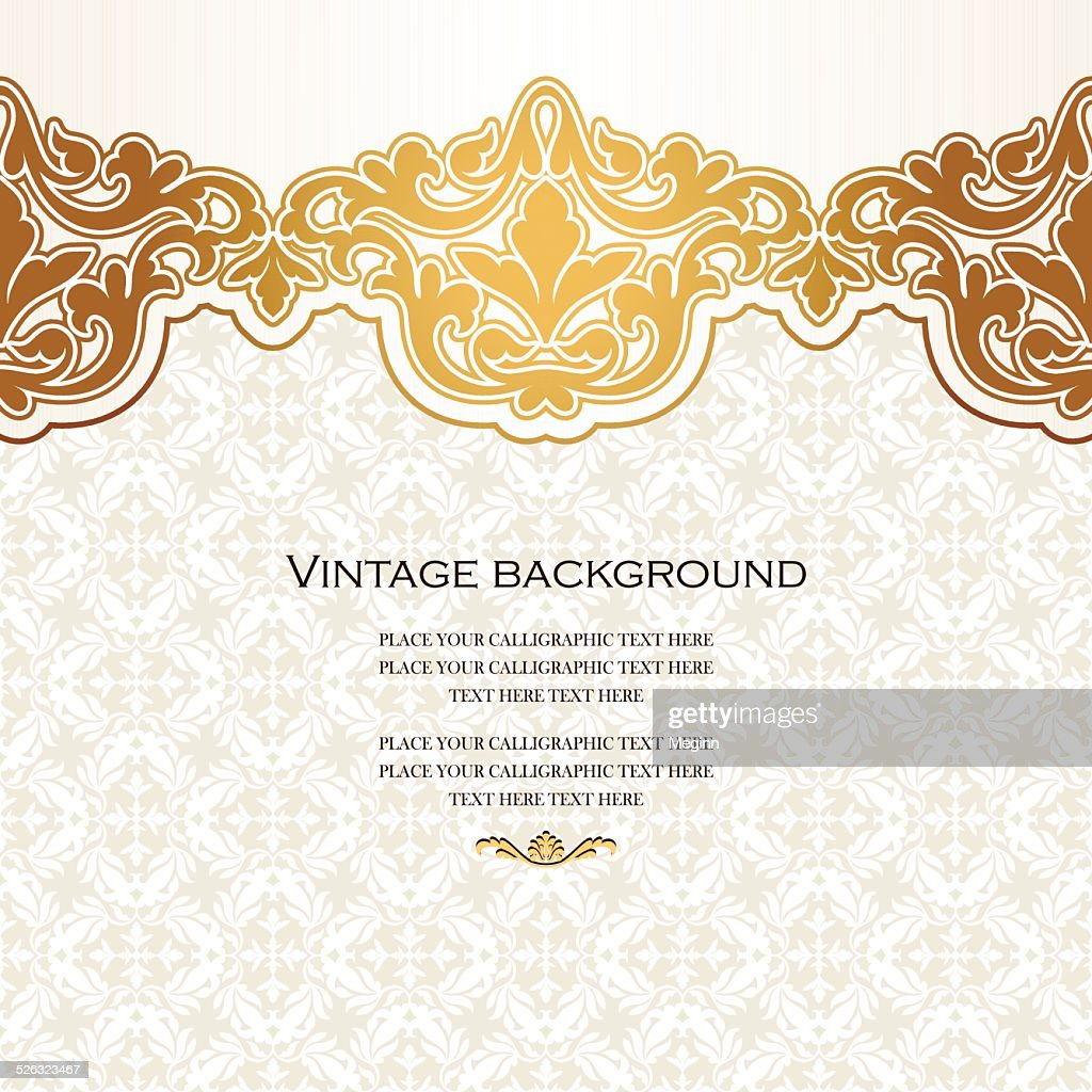 Vintage vector card in islamic style
