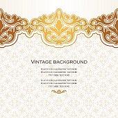 Vintage vector card in islamic style