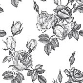 vintage vector floral seamless pattern