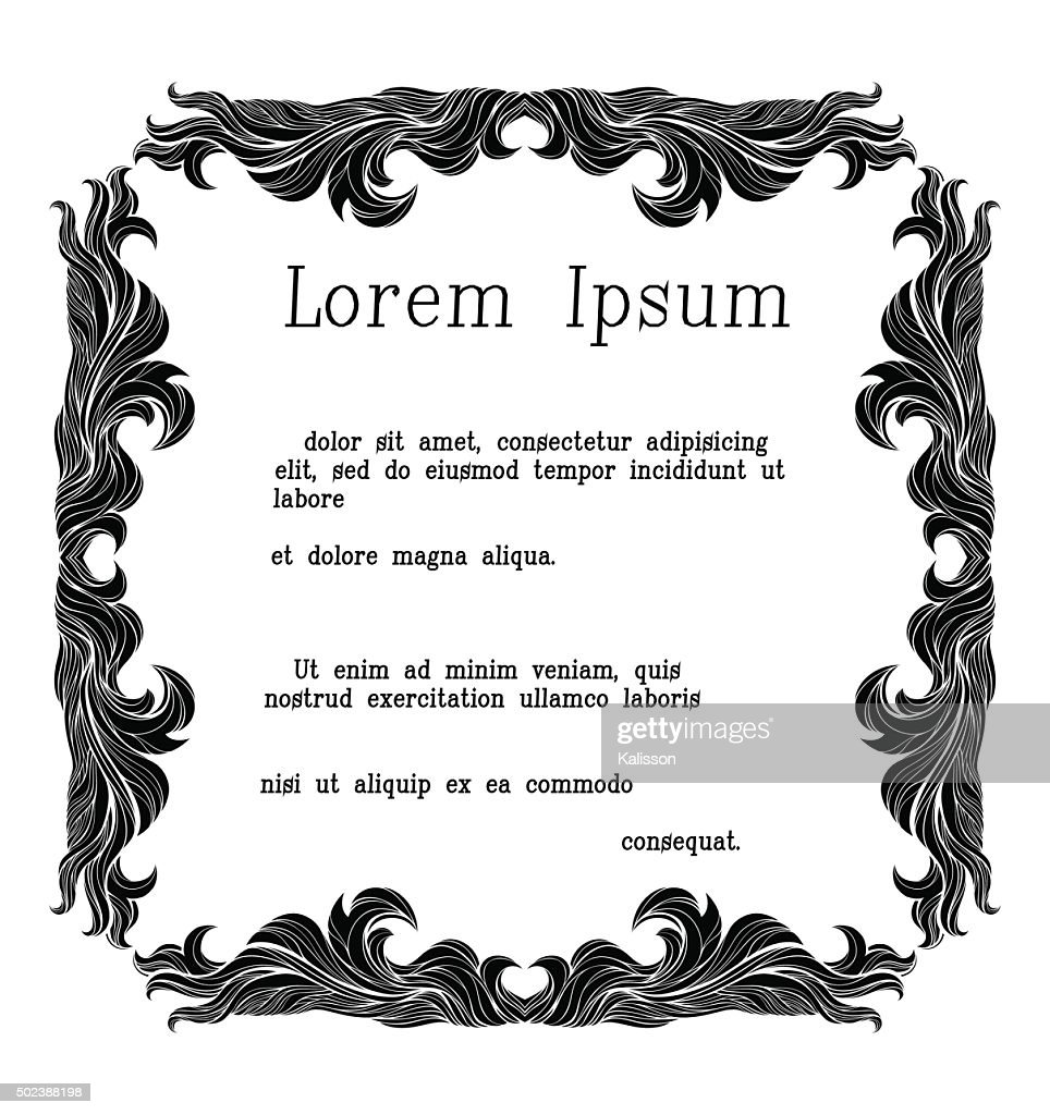 Vintage vector frame with place for text.