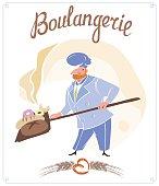 Vintage vector logo - Boulangerie