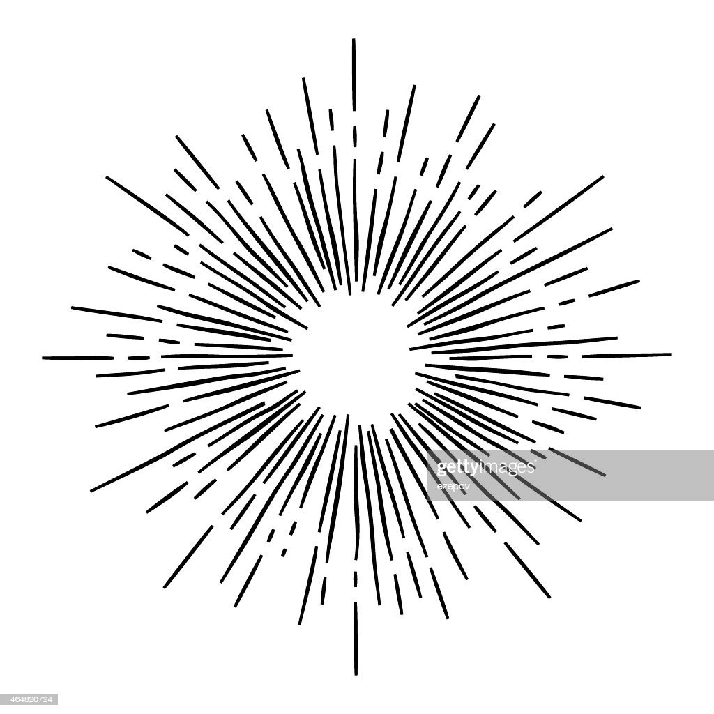 Vintage vector monochrome star burst
