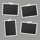 Vintage vector photo frames.