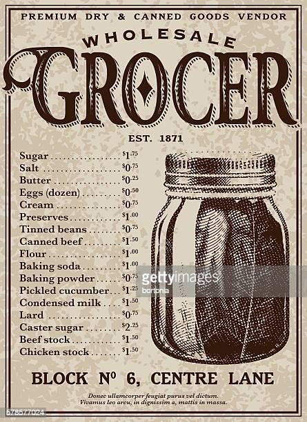 vintage victorian style advertisement - jar stock illustrations